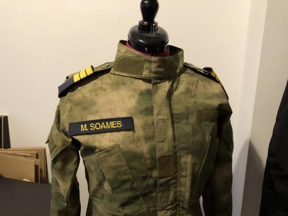 Detail der Felduniform